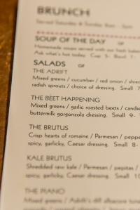 Beet Happening salad at a local Anacortes Restaurant