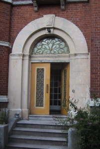 doorway to 86 Palatine Road, Factory Records HQ 1978-1990
